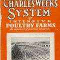 Cover of a brochure for the Charles Weeks Poultry Colony