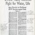 "Page 4 from an annotated copy of Los Angeles Times Article, ""Owens Valley Resumes Fight for Water, Life"" 30 August 1976. Duane Georgeson Collection."