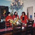 CFSFV Los Posadas celebration in December of 1998. From left to right, Maria Reza, Laura Casas-Frier, and Corina Alarcon.
