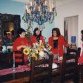 Maria Reza, Laura Casas-Frier, and Corina Alarcon at Los Posadas celebration, December 1998