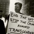 Jay, at the Christian Page Murder vigil, Chicago, Illinois, 1996. The Gender Frontier, HQ 77.9 .A32 2003