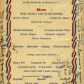 Camp Jossman Christmas Dinner Menu, 1906. Fred M. Greguras Papers