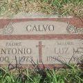 Headstone for Antonio Regalado Calvo and Maria de la Luz Mendez Calvo.