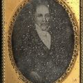 Daguerreotype showing severe silver mirroring. John M. Sell Civil War Collection.