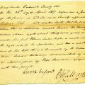 Free status by manumission affidavit for Isaac Holloway (1817) from the Free Status Affidavits Collection.