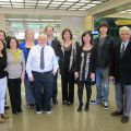 Old China Hands Archives staff members pose with visitors from Northern California