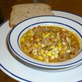 Brunswick Stew, made following the recipe in the Junior League of Memphis Cook Book. TX715 .J863 1952