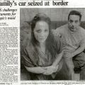 Article, Family's car seized at border