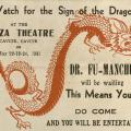 Advertisement for visit by Dr. Fu-Manchu to the Plaza Theater in Cavite, Philippines, May 1931 (front)