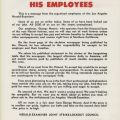 "Flyer produced by the Herald-Examiner Joint Strike-Lockout Council, ""How Hearst Hurts His Employees"". Los Angeles Newspaper Guild Collection."