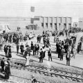 Photograph, the opening of the Pacific Electric in Van Nuys, December 16, 1911