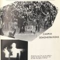 Page on protests, San Fernando Valley State College yearbook, 1969. LD 729 C99 S8
