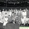 """Cast photograph, """"The Pajama Game,"""" June 8, 1965. Nick and Faye Mayo Valley Music Theatre, Inc. Collection."""