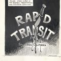 Preliminary drawing for a political cartoon which characterizes the demise of rapid transit in Southern California. June 25, 1965.