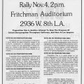 Flyer for a rally opposing Proposition 1 sponsored by Californians Against Proposition 1, 1979