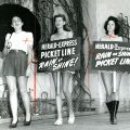 Three women in the Evening Herald and Express picket line