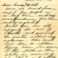 First page of Flanders' letter to his cousin Mrs. Jason Coppernoll, February 26, 1919