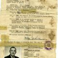 Passport affidavits from the Republic of China, for Moritz Songheimer, Hanni's father, dated December 18th, 1946.
