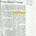 Newpaper clipping in China Press discussing ships which traveled up the Yangste River near Shanghai, China