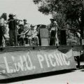 """ILWU """"Bloody Thursday"""" picnic. Union members and their families commemorate the events of the 1934 strike, ca. 1990. International Longshore and Warehouse Union, Local 13 Collection."""