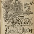 The Foyer, issue of the Burbank Theater program, July 1895. [PN2000 .B9]