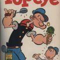 Cover of Popeye comic book, April-June 1954.