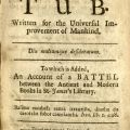 Title page, Jonathan Swift, A Tale of a Tub... PR3724 .T3 1711