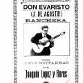 Don evaristo (!l de agusto), rancheria para 1,2 y 3 guitarras