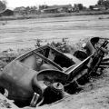 Los Angeles River flood aftermath in North Hollywood, 1938, Robert and Betty Holtby. San Fernando Valley History Digital Library.