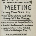 San Fernando Valley State College anti-war meeting flyer, 1971