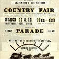 Cut and paste layout flyer for Country Fair in Chatsworth