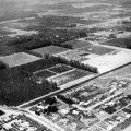 Los Angeles State College, San Fernando Valley Campus (now CSUN), Aerial View, 1956. University Archives Photograph Collection.