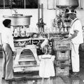 Adohr Farms milk bottling facility, ca. 1936