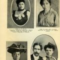 Mrs. A. H. Wall, Miss Glagys Reo Harris, Mrs. Lydia Flood-Jackson, Mr. and Mrs. J. H. Shackelford