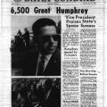 """6,500 Greet Humphrey,"" Daily Sundial, September 27, 1966"