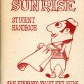 Sunrise student handbook, 1958