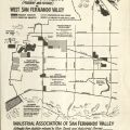 Proposed locations of future industrial employment on a map of West San Fernando Valley, December 14, 1959