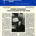 November/December 1980 issue of Free Mind, the newsletter of the American Humanist Association