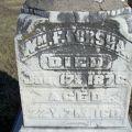 Headstone of William F. Forsha, located at Highland Cemetery, Eddyville, Iowa.