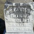 Headstone of William F. Forsha, located at Highland Cemetery, Eddyville, Iowa.