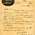 Letter from William Mulholland to his children vacationing on Catalina Island