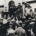 Union rally, ca. 1933. International Longshore and Warehouse Union, Local 13 Collection.