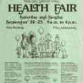 Flyer for the West San Gabriel Valley Health Fair, September 24-25