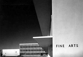 Fine Arts building at San Fernando Valley State College