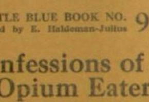 Little Blue Books Confessions of an Opium-Eater, 1921
