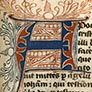 "Illuminated ""A"" from the Book of Revelation, ca.1300"