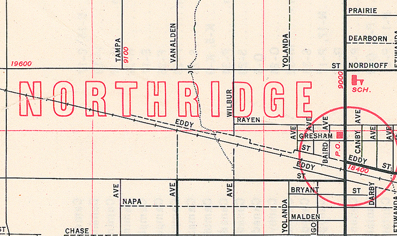 image of Northridge map