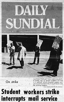 CSUN mail room strike, 1970