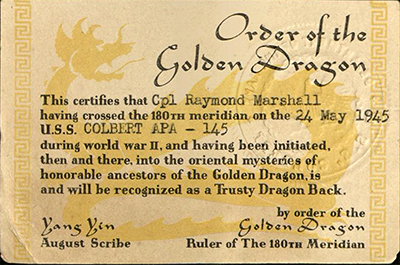 Order of the Golden Dragon card