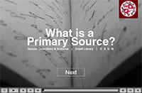 What is a primary source? screenshot